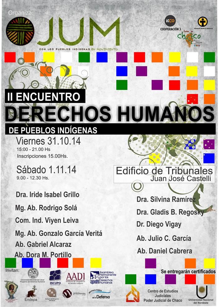 II encuentro sobre derechos humanos de pueblos indígenas.