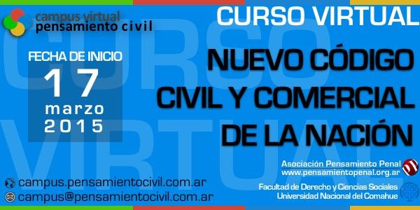 Curso virtual: el nuevo código civil y comercial de la nación. Inicia en marzo de 2015